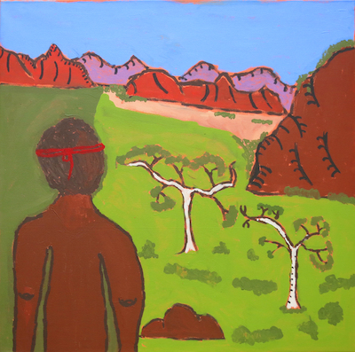 Vincent Namatjira: Albert Namatjira in Bush